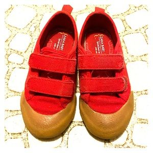 Zara Baby red Velcro sneakers have fun